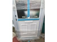 PVC external door set brand new size h 210. W930 for sale
