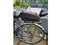 Cycle pannier rack plus top bag