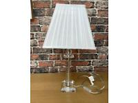Clear Base Table Lamp