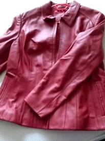 M&S women's size 20 leather jacket
