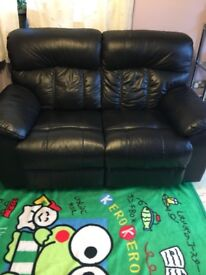 Very good condition genuine leather recliner sofa