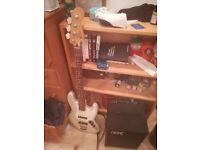 Fender Jazz Bass Guitar and GK 25 Watt Amplifier model MB108