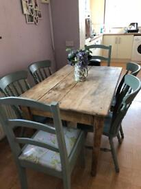 Vintage / rustic table and chairs