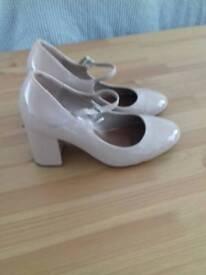 Size 7 nude block heels