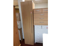 Atlas single door wardrobe oak