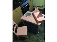 Girls princess dressing table and chair