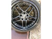 bmw e46 e36 e90 wheels black 18 inch nearly new tires