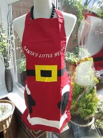 santa helper aprons new age 8 yrs to small adult