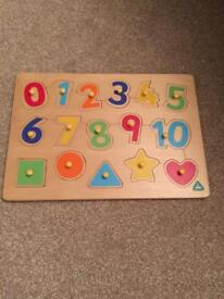 ELC numbers & shapes puzzle