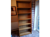 2 x Beech Bookcase - Ikea Billy Range (£10 each or 2 for £15)