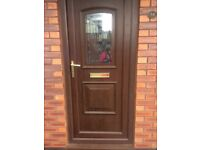 Pvc double glazed door excellent condition with glazed window