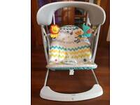 Fisher price colourful carnival baby swing