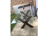 Glass top dining table (Seats 6 people)
