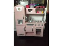 Pink Kidkraft Wooden Kitchen & Accessories