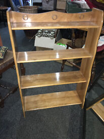 Sweet and Stylish Arts and Crafts Beech Open Bookcase