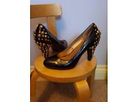 Studded heel shoes 4 NEW