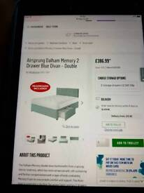 Airsprung Dalham Memory 2 Double Bed