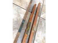 Vintage Wooden Carpenters Levels