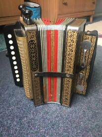 Vintage Hohner one row button accordion/melodeon