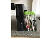 Xbox 360 Elite 250GB Black with accessories and games
