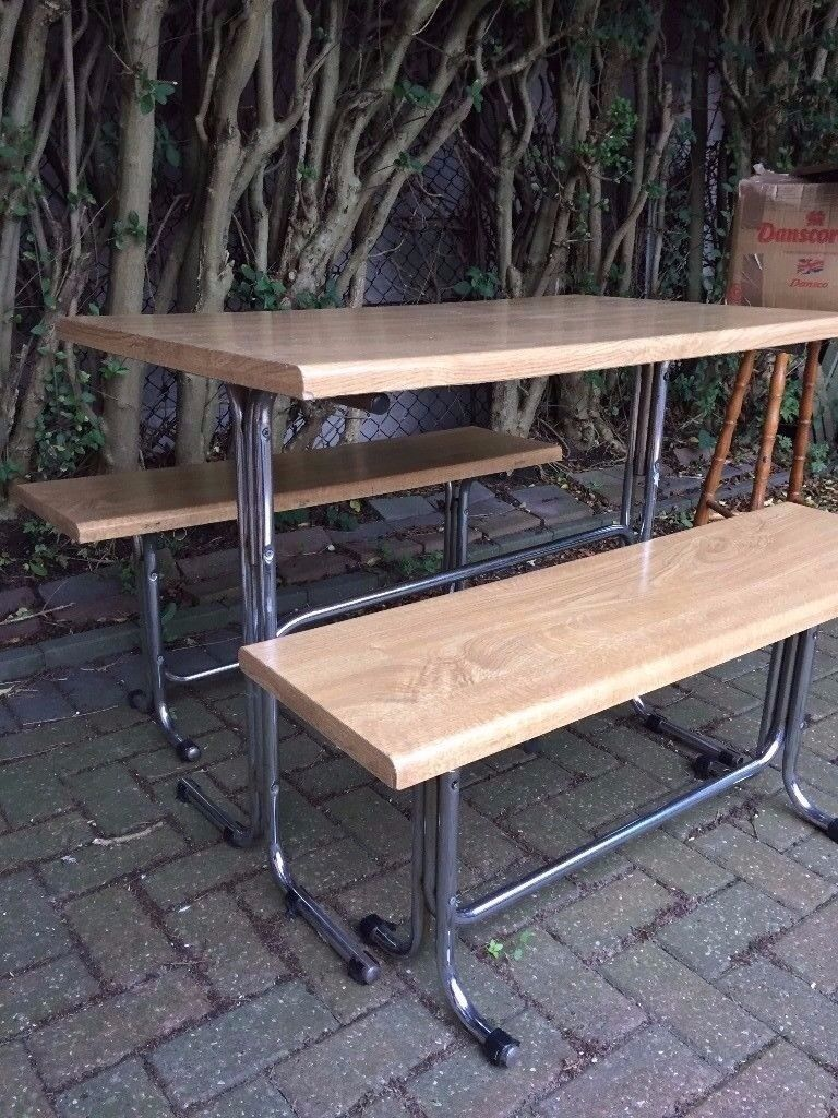 Dining table and x2 benches