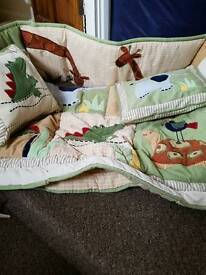 Cotbed bedding