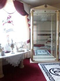 Italian glass display cabinet