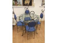 Real funky quality table & 4 chairs