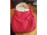 Stokke Xplory/Crusi Footmuff DARK RED V2 2009 £40 freshly washed