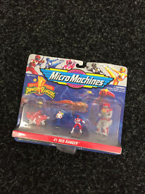 Micro Machines Power Rangers #1 Red Ranger - Old Collectable Toys - Retro
