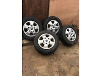 4 Ford transit custom alloy wheels,excellent condition