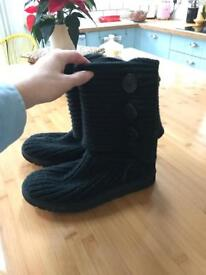 Genuine Ugg Fabric Boots Size 4.5