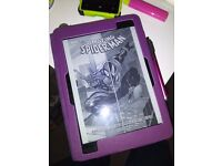 Kobo Aura One with Purple Cover