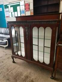 Vintage Display wooden Cabinet