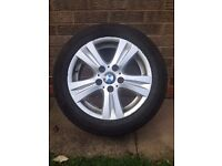 """BMW 16"""" 1 series alloy wheel with tyre"""