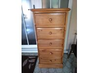 Solid Pine Tallboy / Solid Pine Chest of Drawers with dovetail joints to all drawers