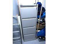 Bisley four drawer filing cabinet with keys
