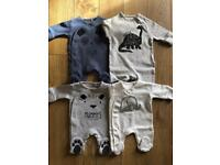 22 Next Tiny Baby Sleepsuits - Never Worn or Worn Once - Bought In Last 6 Weeks