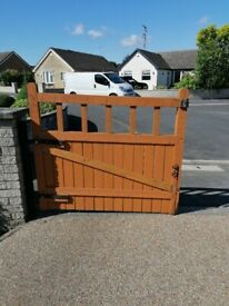 Wooden gates for a drive