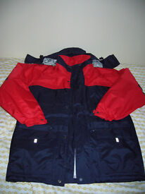 """New and Unworn Result Men's Waterproof Jacket in Red and Navy Size Small 38"""" Chest"""