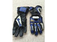 """Motorcycle gloves Frank thomas Type """"R"""" in blue, size L"""