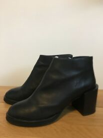 COS Ankle Boots size 6/39 Black Leather