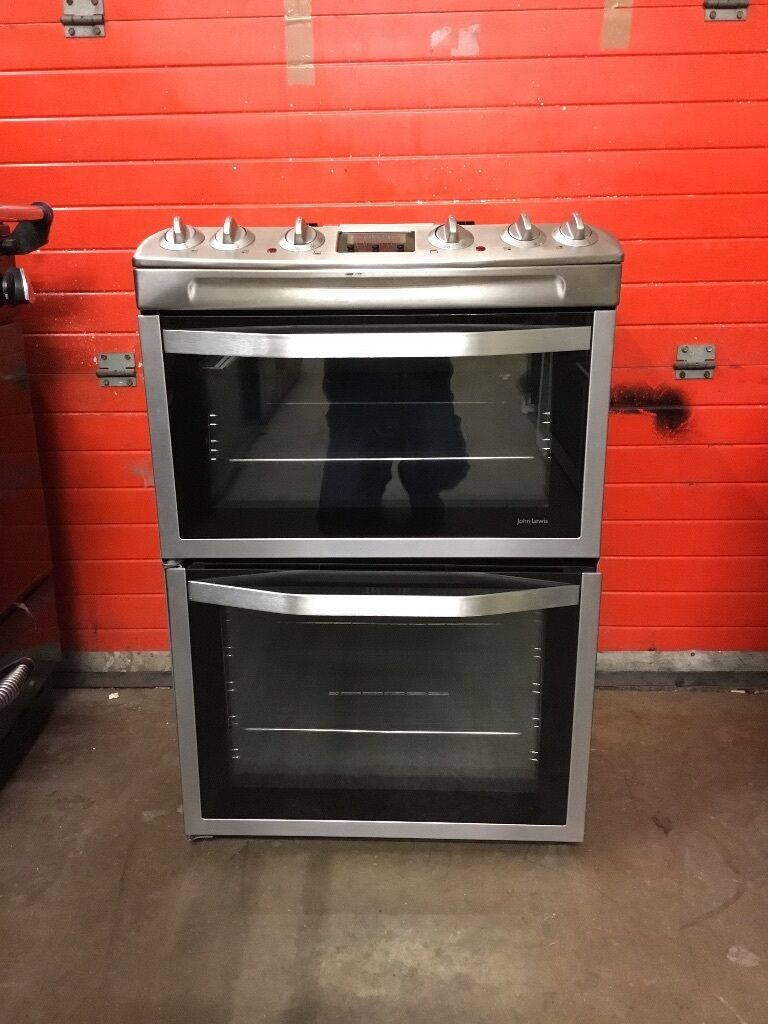 John Lewis Kitchen Appliances John Lewis Dual Fuel Gas Cooker Jlfsmc613 60cm S S Fsd Double Oven