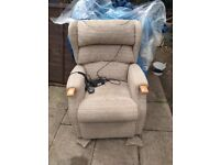 Reclining Armchair back and foot rest movement. T motion controller