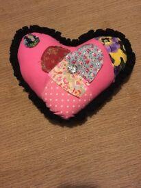 Small heart shape Hand made cushion