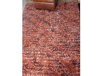 Next Burned orange tufted rug (Bought on Next website for £230) & Next Throw.