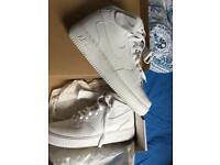 Nike airforce 1 size 8 white