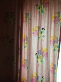 Disney princess curtains 90 by 90 and 4 princess canvases