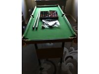 Dunlop pool/snooker table