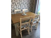Next Table and Laura Ashley chairs